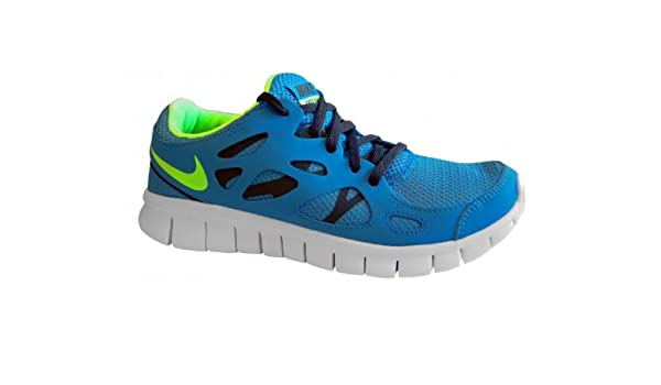 size 40 b4398 65e6b NIKE Free Run 2 Junior Running Shoes, Blue, UK6  Amazon.co.uk  Sports    Outdoors