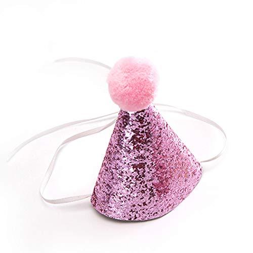 Umiusiyun Practical Pet Dog Birthday Capes Kostüm Hut mit Bownout Grateful(None Hat - Pink Lady Kostüm Bilder