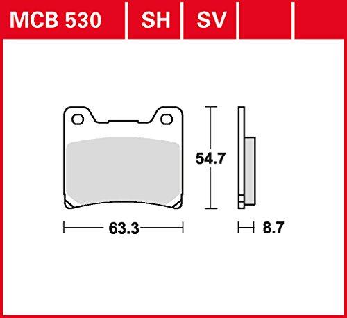plaquette de freins Lucas MCB530 pour Yamaha BT 1100 Bulldog RP051 | Yamaha BT 1100 Bulldog RP052 | Yamaha FJ 1100 47E | Yamaha FJ 1200 1XJ | Yamaha FJ 1200 3CW | Yamaha FJ 1200 3Y