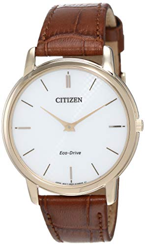 Citizen Herren Analog Quarz Uhr mit Leder Armband AR1133-15A