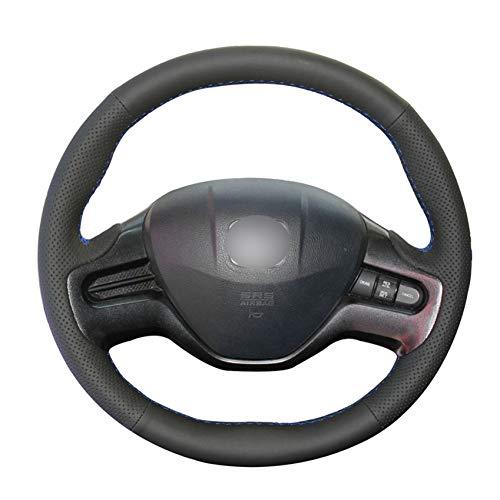 PCVBA Coprivolante per auto in pelle artificiale PU nero per Honda Civic Civic 8 2006-2008 (2 razze)