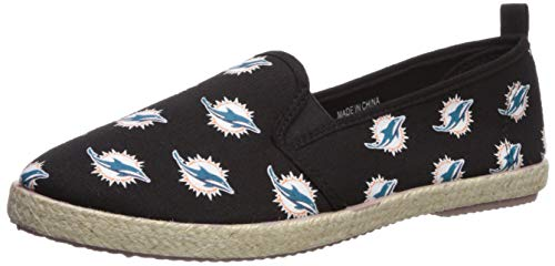 FOCO Miami Dolphins Espadrille Canvas Shoe - Womens Medium