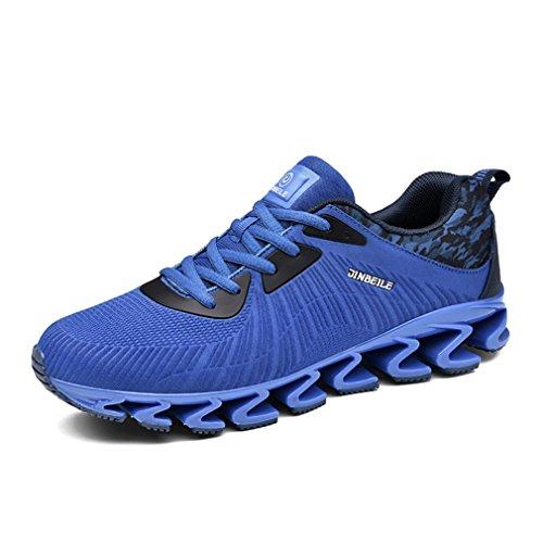 LFEU Homme Chaussure de Mulitsport Outdoor Sneakers D'Air Chaussure de Course Running Jogging Cross-Country Trial Athlétique Fitness Textile Respirant