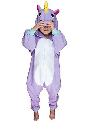 Imagen de abyed kigurumi pijamas unisexo adulto traje disfraz adulto animal pyjamas,2016 púrpura unicornio chidren tamaño 125 para altura 138 148cm alternativa