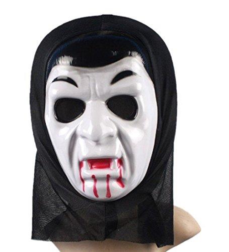 Inception pro infinite maschera per costume - travestimento - carnevale - halloween - vampiro - dracula - twilight - colore bianco - adulti - uomo - ragazzo