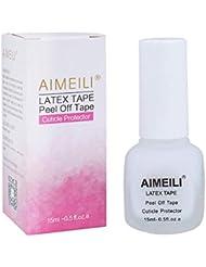 AIMEILI Liquid Latex Peel off Liquid Tape Hautschutz Fingerschutz für Nail Art Liquid Palisade Geruchlos Weiß 15ml