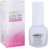 AIMEILI Látex Líquido Peel Off Protección de la Piel y los Dedos para Decorar Uñas 15ml