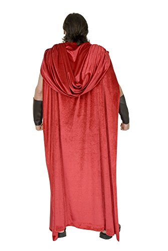 MyPartyShirt Spartanische Krieger-Rotes Erwachsenes Cape 300 Kostüm-Römisches griechisches Thor Gladiator - Xerxes Kostüm