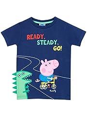 Idea Regalo - Peppa Pig - Maglietta a maniche corta Ragazzi - George Pig - 3 a 4 Anni