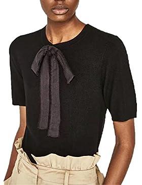 Azbro Mujer Moda Camiseta Tee Arco Frontal Mangas Cortas