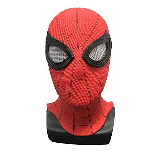 Red Mann Spider Kostüm - Rote Spiderman-Maske Kostüm Helden Helden für Männer und Jugendliche Halloween Party Film Cosplay Requisite 2019 - Red PVC Mask
