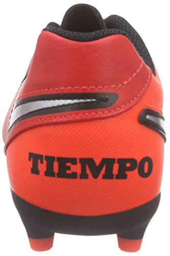 Nike Jungen Tiempo Rio Iii Fg Fußballschuhe, Grau, UK Rot (Light Crimson/Total Crimson/Metallic Silver)