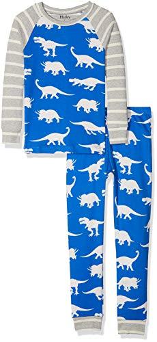 Hatley Jungen Organic Cotton Long Sleeve Printed Pyjama Set Zweiteiliger Schlafanzug, Roaming Dinos, 5 Jahre
