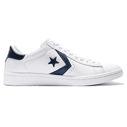 Converse, Donna, Pro Leather LP Leather, Pelle, Sneakers, Bianco Bianco