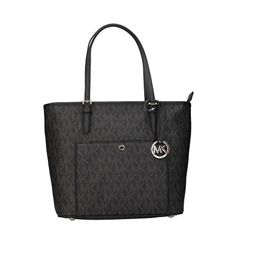 MICHAEL-Michael-Kors-Snap-Pocket-Tote-Black