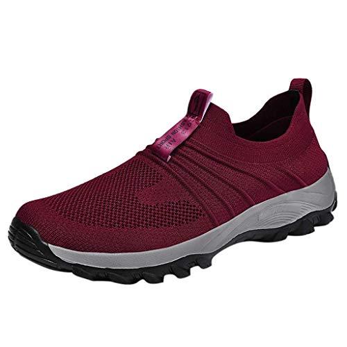 Caren Scarpe da Jogging da Donna Sneakers Leggere E Traspiranti Casual Scarpe da Pallavolo Semplici per Il Fitness All'aperto (Color : Rosso, Size : 38 EU)