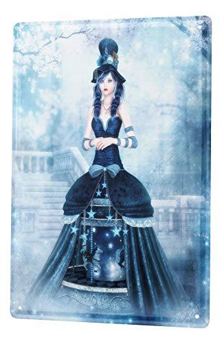 Fantasy Plaque Émaillée Gothic gothique Manga neige Mural Décoratif En Publicité Signes En Métal 20X30 cm