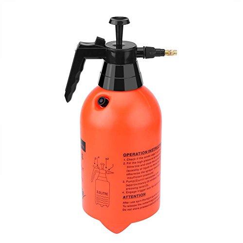 Rociador de presión, 2L/3L portátil de mano jardín césped bomba pulverizador de agua herramienta de riego de planta para fertilización, limpieza y uso general de pulverización(3 L)