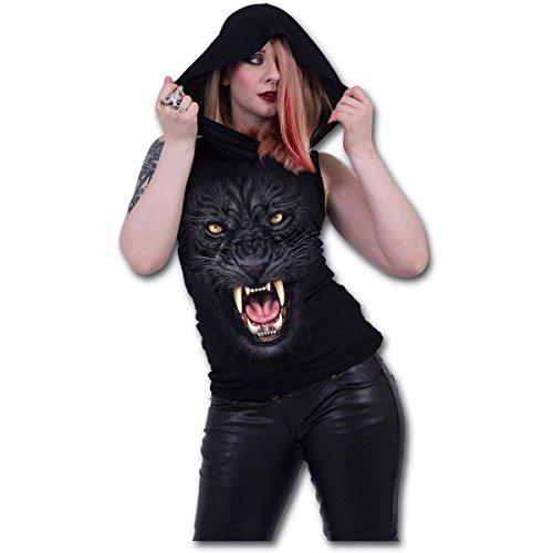Spiral Tribal Panther Girl-Top schwarz Schwarz