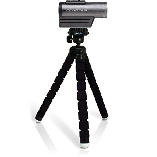 igadgitz Leichtgewichts Large Universal Ultraflexibel Schaum Dreibeinstativ Mini-Stativ mit Schnellwechselplatte für Contour Action Cam +2, Roam 2, Roam 3 - - Action-cam Contour