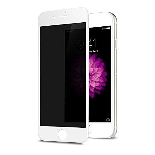 TECHO Displayschutzfolie Schutzfolie Privacy für iPhone 8 Plus 7 Plus Panzerglas Uncensored Screen Ultradünn 3D Waken 9H Glas Displayschutz Anti Spy Tempered Glass Screen Protector (5.5, Weiß)