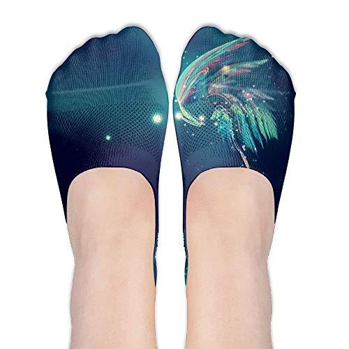 ouyjian ButterflyFemale Casual Summer Sports Stealth Boat Socks Low Cut Liner Socks. -