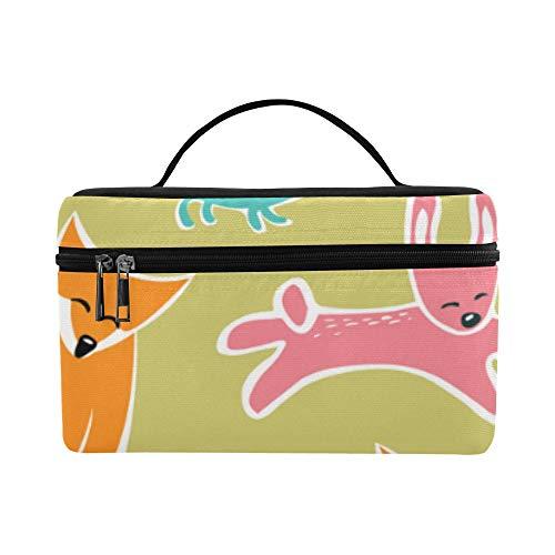 bige Katzen Karikatur große Kapazitäts Größe Dame Cosmetic Bag uporganisator Zug Toilettenartikel Kasten Brotdose für Mädchen jugendlich Frauen Reisen mit klarem Reißverschluss ()
