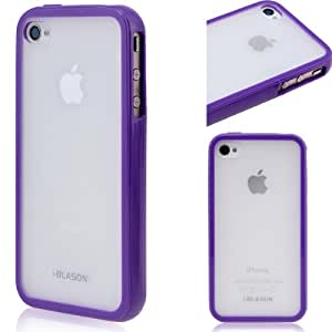 i-Blason CandyGel Semi-Transparent Slim Fit Air Jacket Case for Apple iPhone 5 4G LTE with Bonus Screen Protector Retail Packaging (Purple)