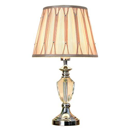 ● * Lámpara de mesa de cristal moderna, sencilla y creativa, decoración...