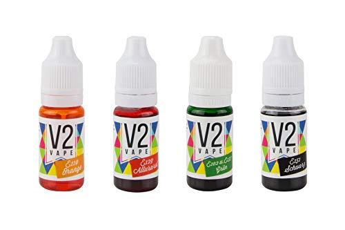 V2 Vape Lebensmittelfarbe Set HALLOWEEN Edition 4 x 10ml Farbe Farbstoff extrem hoch konzentriert, flüssig | Set zum Färben von Liquids, Aromen, Getränken, Teig, Toppings und alle anderen Lebensmittel