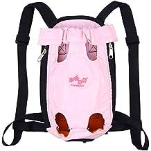 con Las piernas Abiertas y Transpirable Mochila portadora Delantera de Gato Perro S Xiaoyu Mochila Porta Mascotas Rosa sin Manos Ajustable