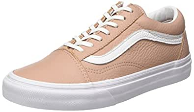 Vans Damen Old Skool Leather Sneaker Mahogany Rose/True Blanc