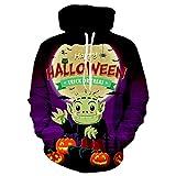 Manadlian Halloween Pollover Unisex Hoodies Vintage Männer Frauen Modus Happy Halloween 3D-Druck Langarm Paare Top Bluse Shirts Sweatshirt