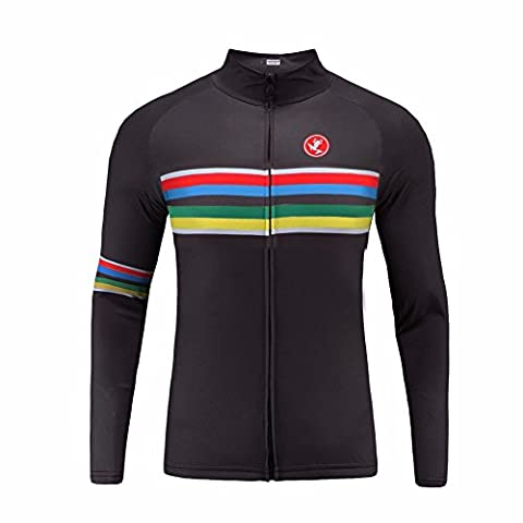 Uglyfrog Rainbow Jersey 2016 New Winter Thermal Fleece Long Sleeve Cycling Jerseys Outdoor Sports Men's Breathable Bicycle Shirt Triathon