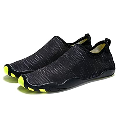 Laiwodun Men Women Water Shoes Barefoot Quick Dry Aqua Shoes Lightweight Swim Diving Shoes with 14 Drainage Holes