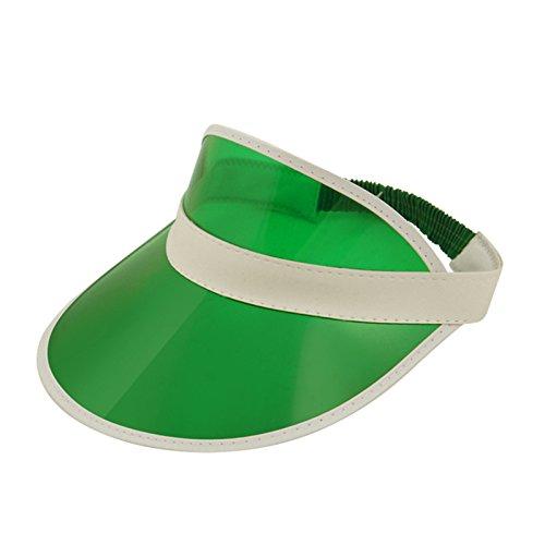 Green Poker/ Golf Visor Hat Fancy Dress Accessory