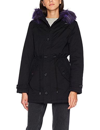 Brandit Franka Ripstop, Parka para Mujer, Schwarz (Black-Purple 170), Large
