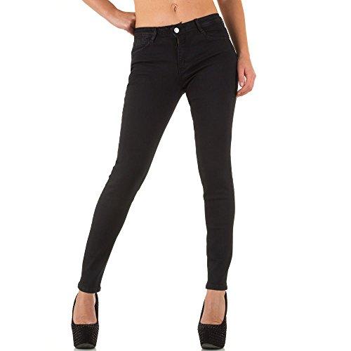 Elastische Super Skinny Jeans Für Damen bei Ital-Design Schwarz