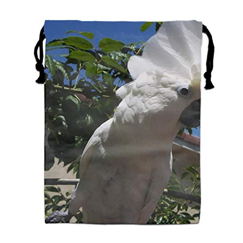 Einst Large Size White Cockatoo Turnbeutel Bag, Party Favor Bag, Overnight Bag -