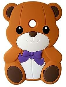 SKS Distribution® brun Silicone mignon Ours Bow Bear Etui Coque Housse Pour Nokia Lumia 520