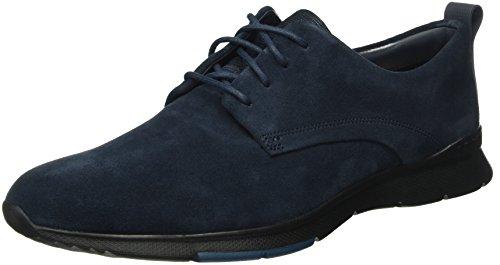 Clarks Herren Tynamo Walk Derby Blau (Navy Suede)