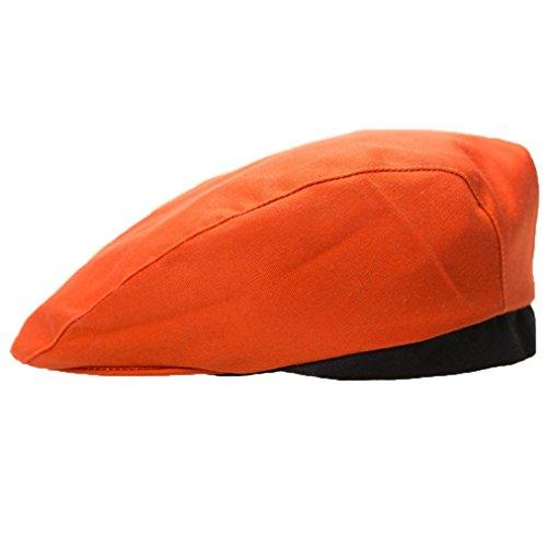 Cap, erthome Stilvolle Männer Frauen Kochmütze Catering Baker Küche Kochen Duckbill Beret Golf Caps (Orange A) (Visier Golf Leder)
