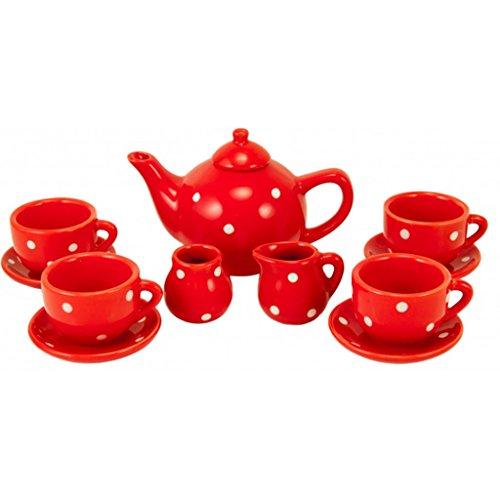 Ulysses Dotted Tea Set (Red)