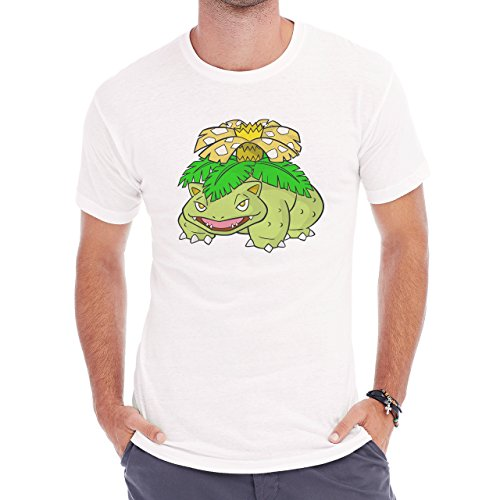 Pokemon Venusaur Third Generation Green Yellow Flower Herren T-Shirt Weiß