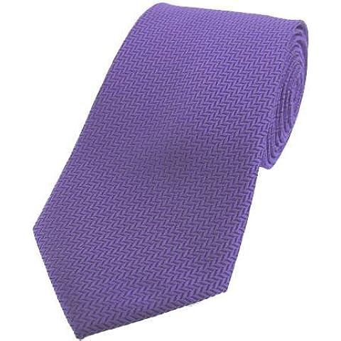 Lilac spina di pesce Seta Cravatte di David Van Hagen