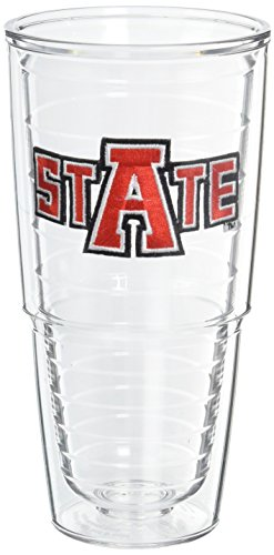Tervis 1007457 Arkansas State University Emblem Individually Boxed Tumbler, 24 oz, Clear
