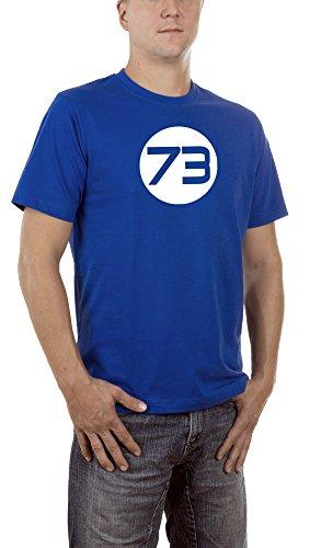 Touchlines Herren T-Shirt Sheldons Best Number Blau (Royal 09), (/kino Kostüme Halloween Tv Beste)