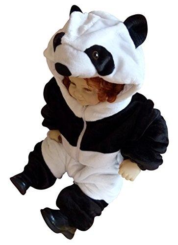 Panda-Kostüm, F96/00 Gr. 74-80, für Babies und Klein-Kinder, Panda-Kostüme Pandas für Fasching Karneval, Panda-Bär Klein-Kinder Karnevalskostüme, Kinder-Faschingskostüme, Geburtstags-Geschenk