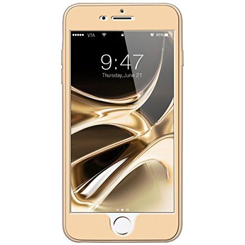 """GrandEver Coque iPhone 6s (4.7"""") 360 Design Silicone Antichoc Souple Rigide Ultra Fine Slim Etui Incassable Gel Rubber Souple Caoutchouc avec Bumper Housse Protection Case pour iPhone 6s / iPhone 6 -- Or"""