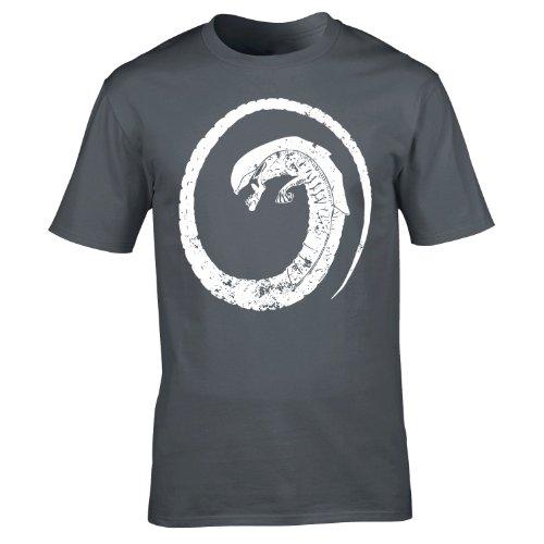 alien-chestbuster-xxl-charcoal-new-premium-loosefit-t-shirt-slogan-funny-clothing-joke-novelty-vinta